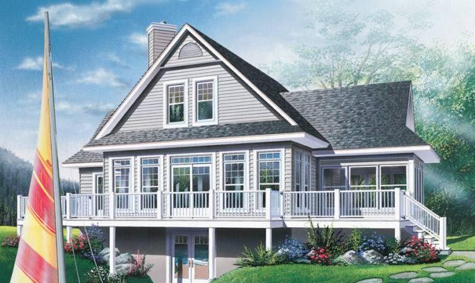 Quaker Lake Vacation Home Plan House Plans