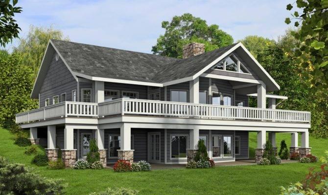 Quoet Rustic Mountain House Plans Walkout Basement