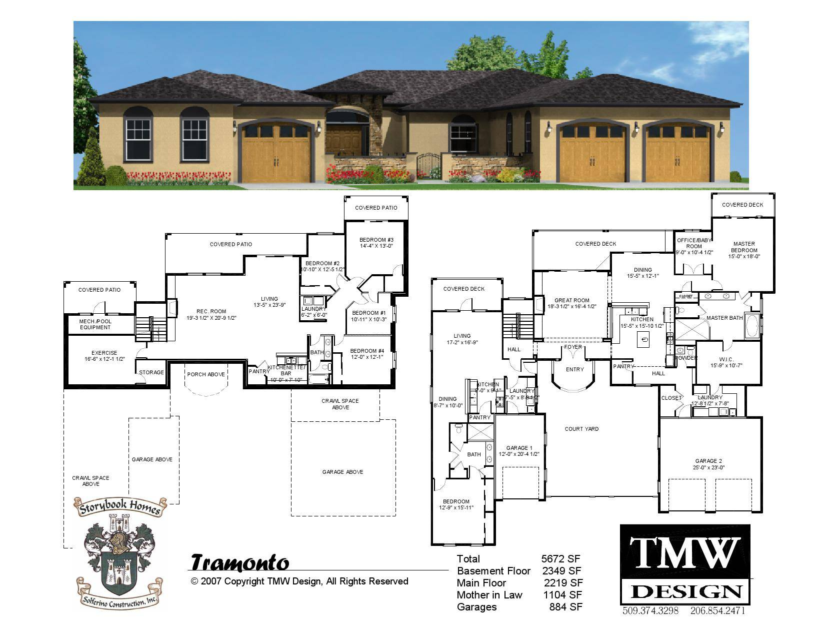 Rambler Daylight Basement Floor Plans Tri Cities