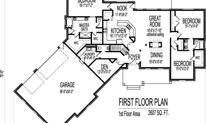 Ranch House Floor Plans Angled Garage