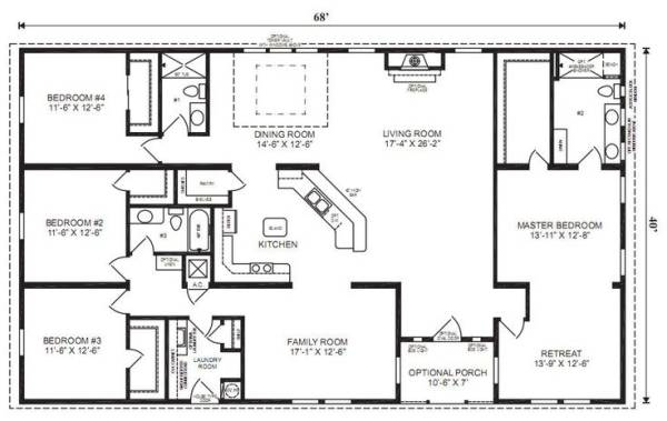 Ranch House Floor Plans Bedroom Love Simple