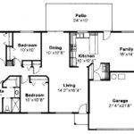 Ranch House Floor Plans Likewise Bedroom Style