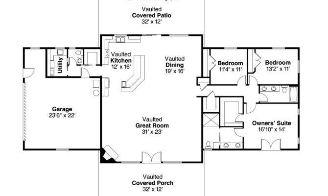 Ranch House Plan Anacortes Floor