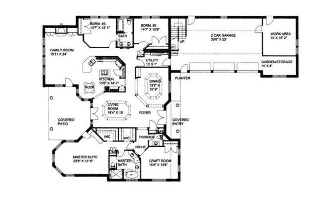 Ranch House Plan First Floor Plans More