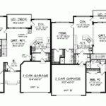 Ranch House Plan One Story Traditional Duplex Square Feet