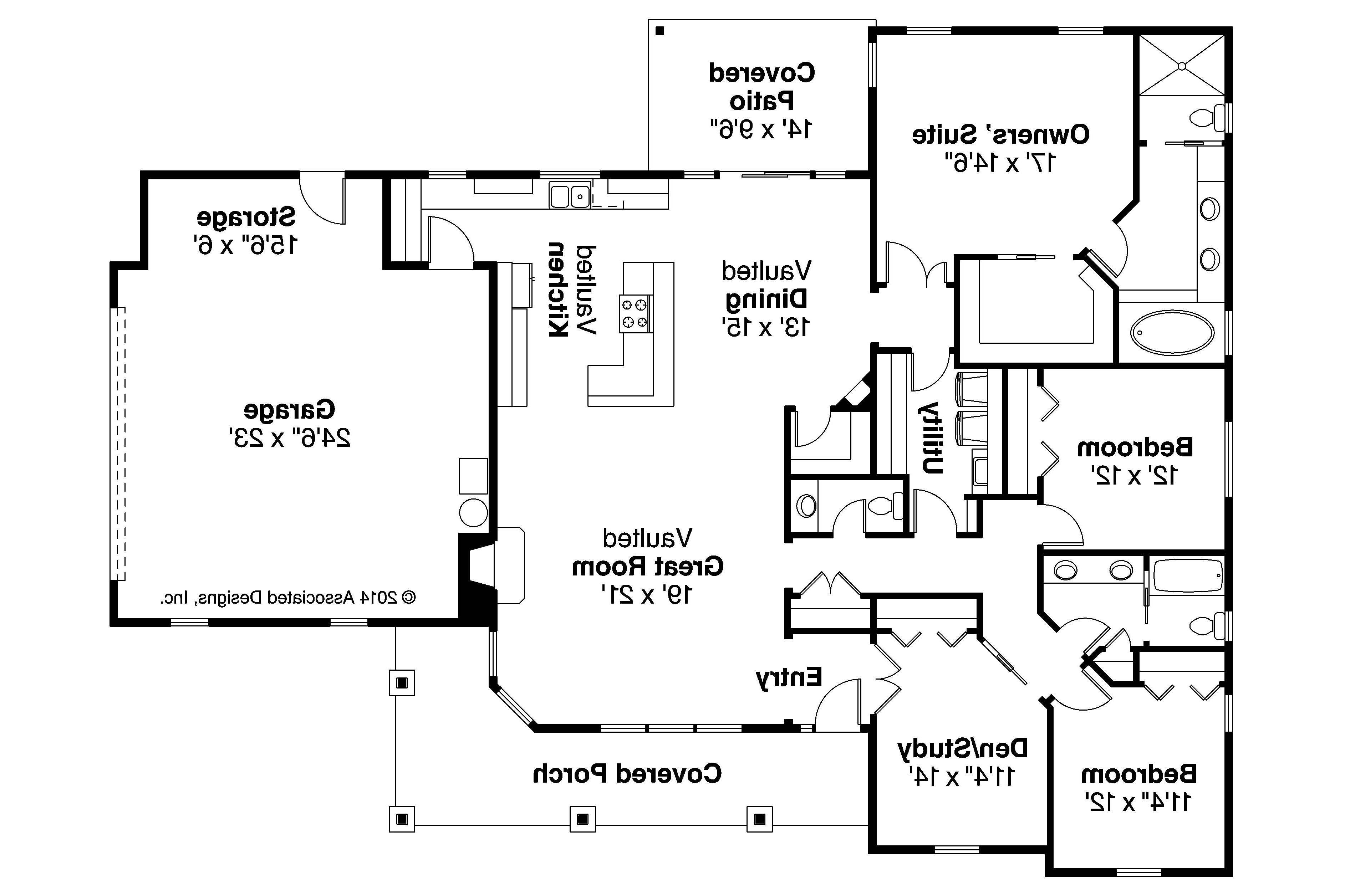 Ranch House Plans Brightheart Associated Designs