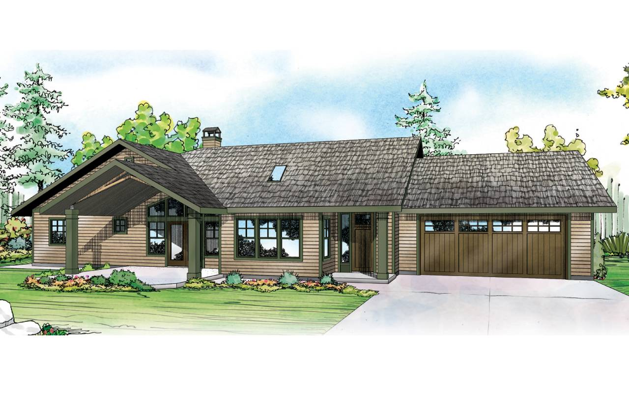 Ranch House Plans Elk Lake Associated Designs