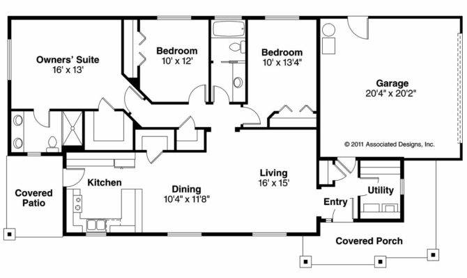 Ranch House Plans Hopewell Associated Designs
