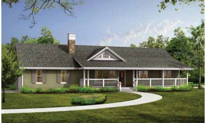 Ranch House Plans Porch Smalltowndjs