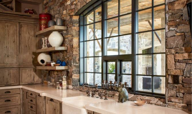 Ranch Rustic Kitchen Houston Thompson Custom Homes