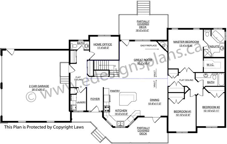 Ranch Style Bungalow Plan Designs