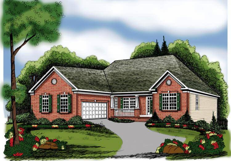 Ranch Style House Plans One Story Home Design Floor