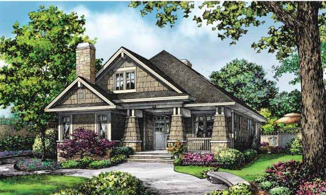 Ranch Style House Plans Rear Garage Cottage
