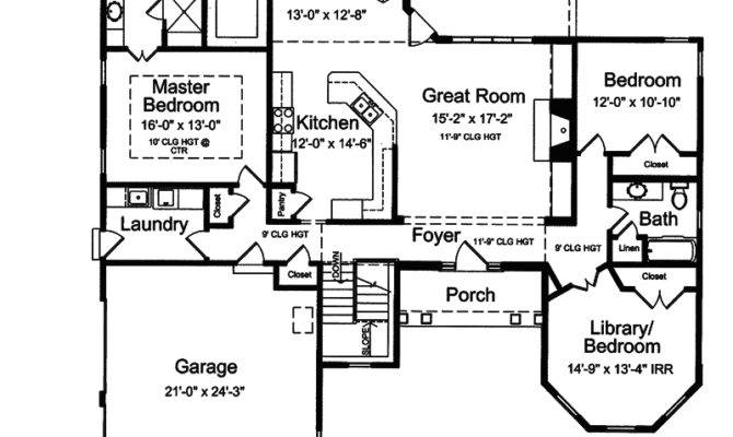 Randall Cliff Ranch Home Plan House Plans More