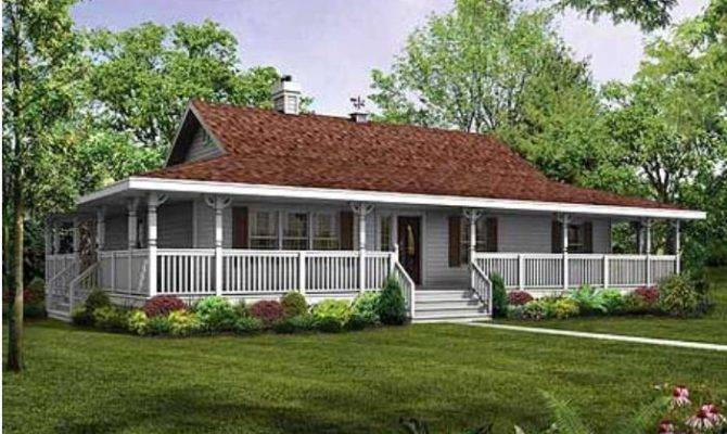 Rap All Way Around Porch Single Story Farm House Dream