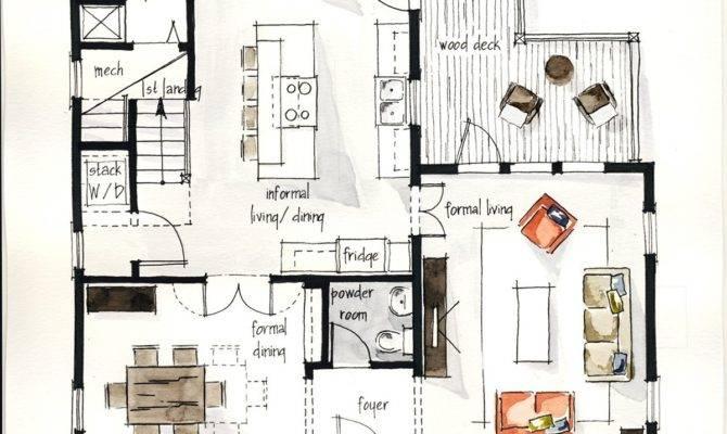 Real Estate Watercolor Floor Plans Part Behance