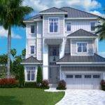 Realistic Rendering Beachfront Home Plan House