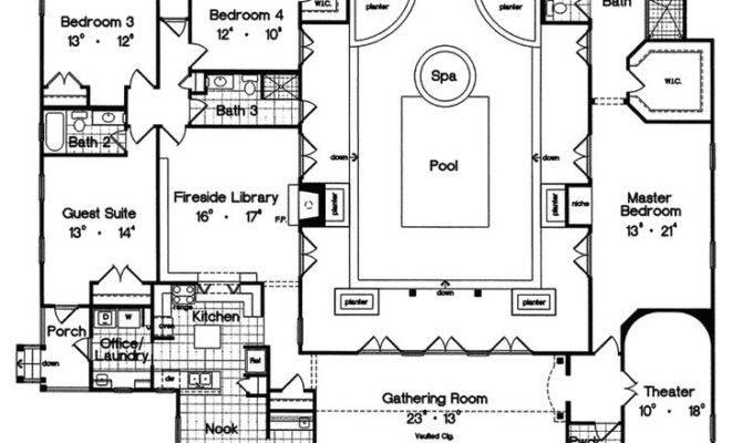 Rear Garage Home Floor Plans