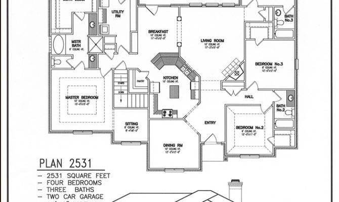 Rear Garage House Plans