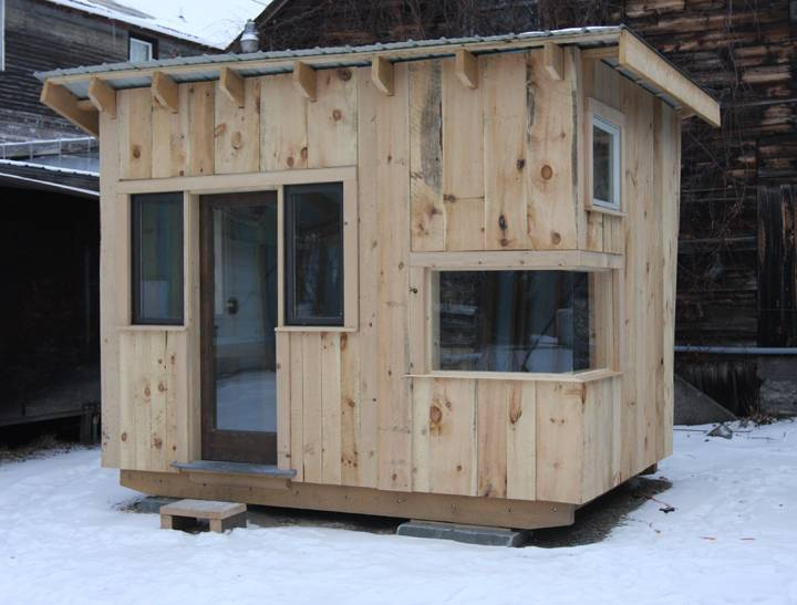 Reclaimed Tiny House Built Students