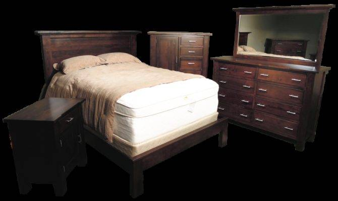Rectangle Bedroom Set Amish Furniture Custom Built Solid