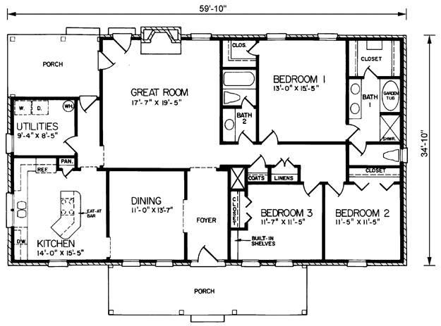 Rectangular House Floor Plans Homes