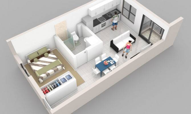 Rectangular Single Bedroom