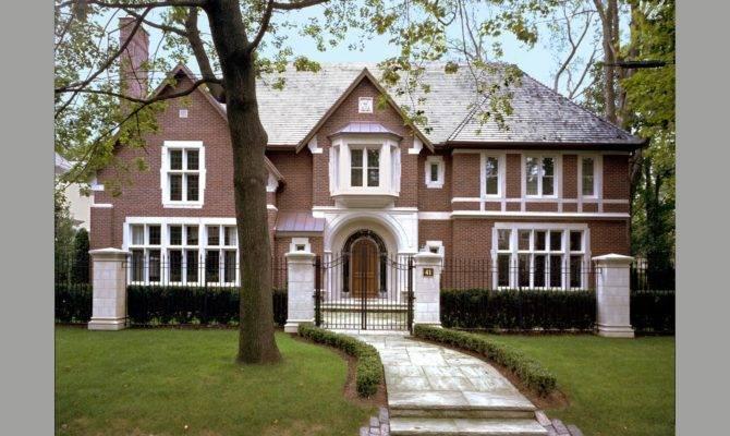 Red Brick Tudor Custom Luxury Home Builders