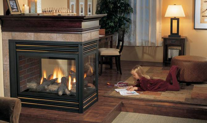 Regency Panorama Three Sided Gas Fireplace Joe