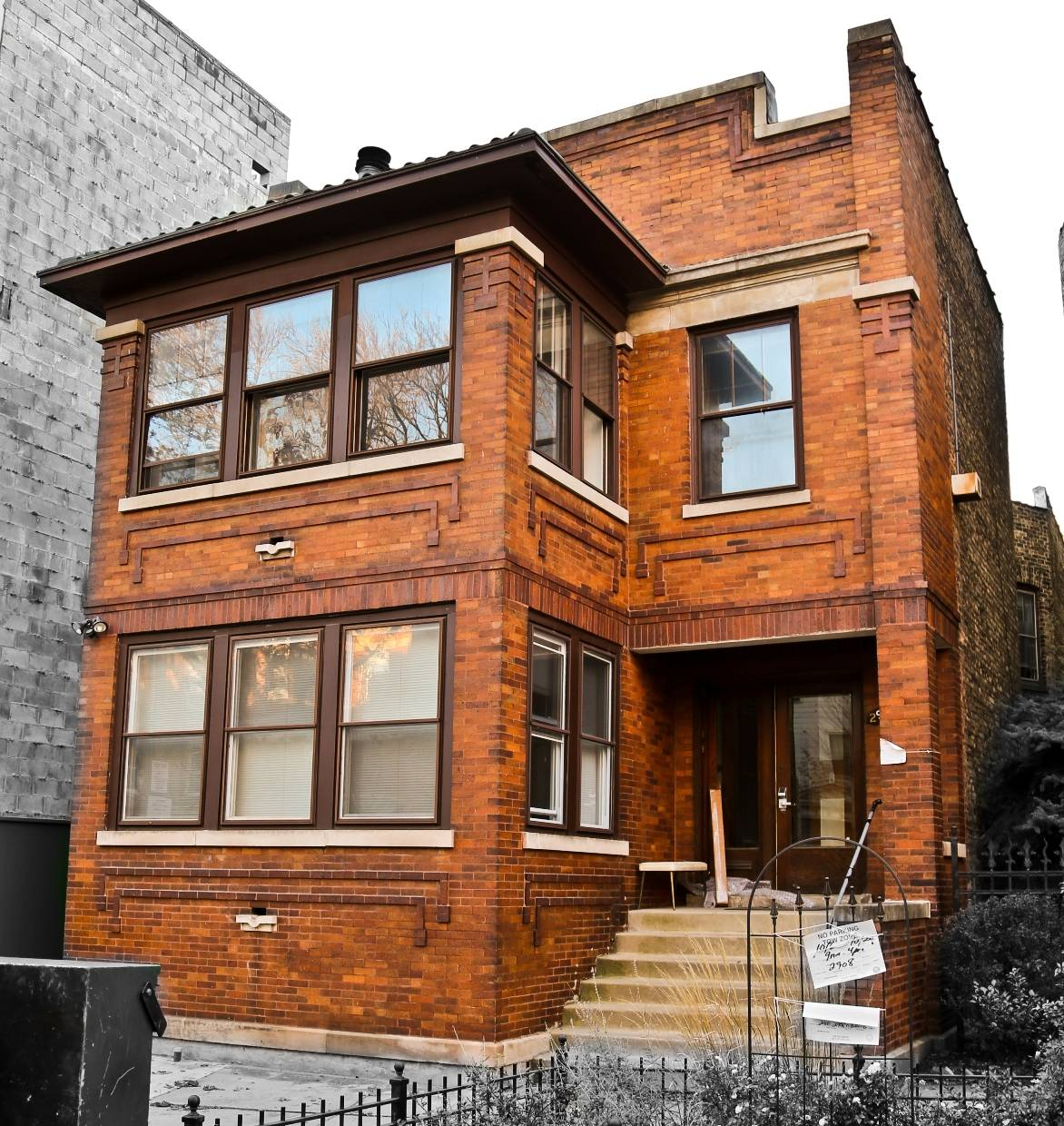 Remarkably Intact Chicago Prairie Style Brick Two