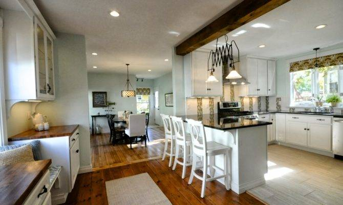 Remodelaholic Creating Open Kitchen Dining Room