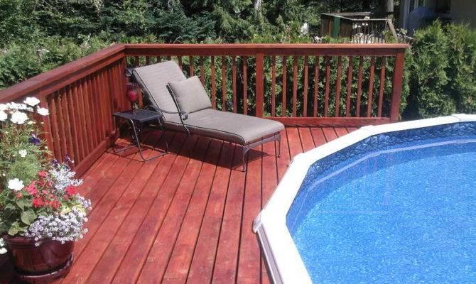 Remodeling Above Ground Pool Deck Plans Decks Around