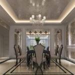 Renderig Neoclassical Dining Room Design Interior