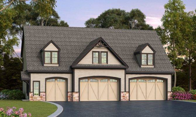 Residential Car Garage Plan Architectural
