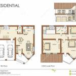 Residential House Plan Illustration