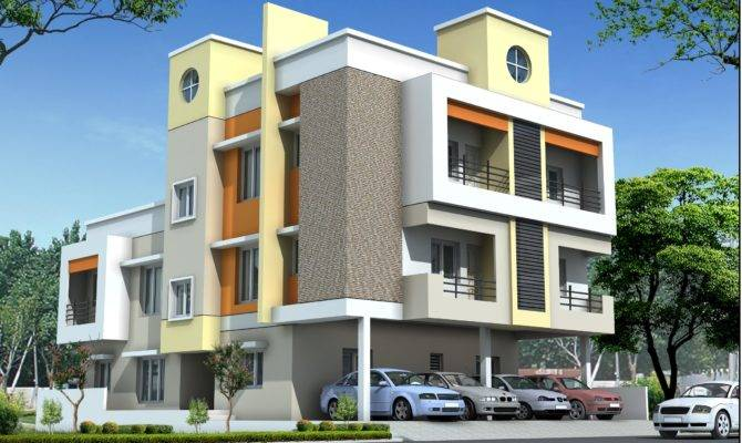 Residential Multi Storey Building Elevation Design