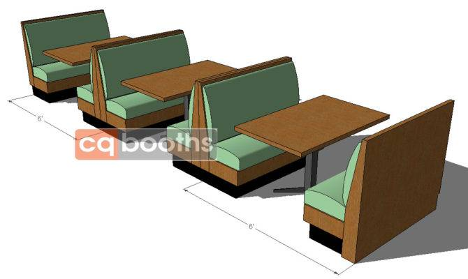 Restaurant Booth Shapes Sizes Cqbooths