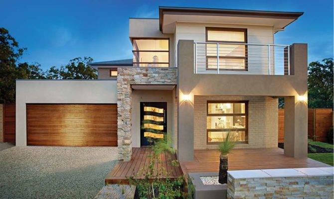 Result Box Style Facades Double Storey Home