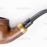 Retro Tobacco Pipe White Smoking