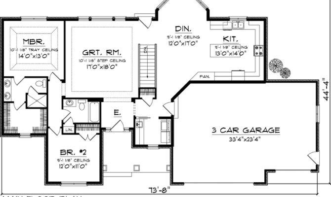 Reverse One Half Story House Plans
