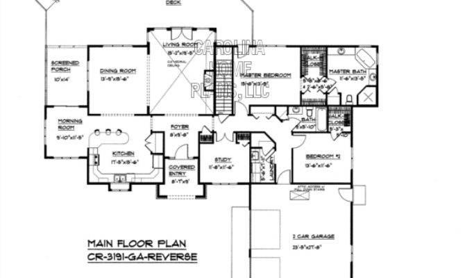 Reverse Ranch House Plans Craftsman Style Plan