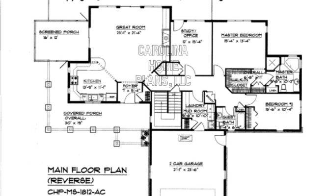 Reverse Ranch House Plans Craftsman Style Plan