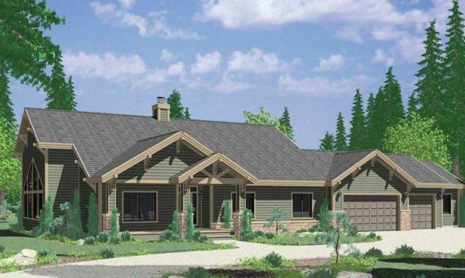 Reverse Ranch House Plans Elegant Painted