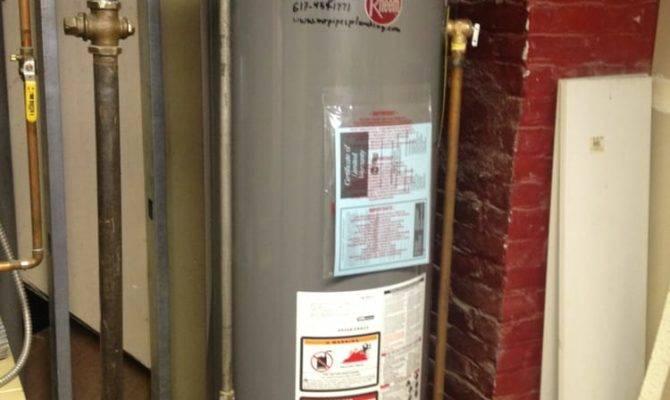 Rheem Natural Gas Hot Water Heater Installed