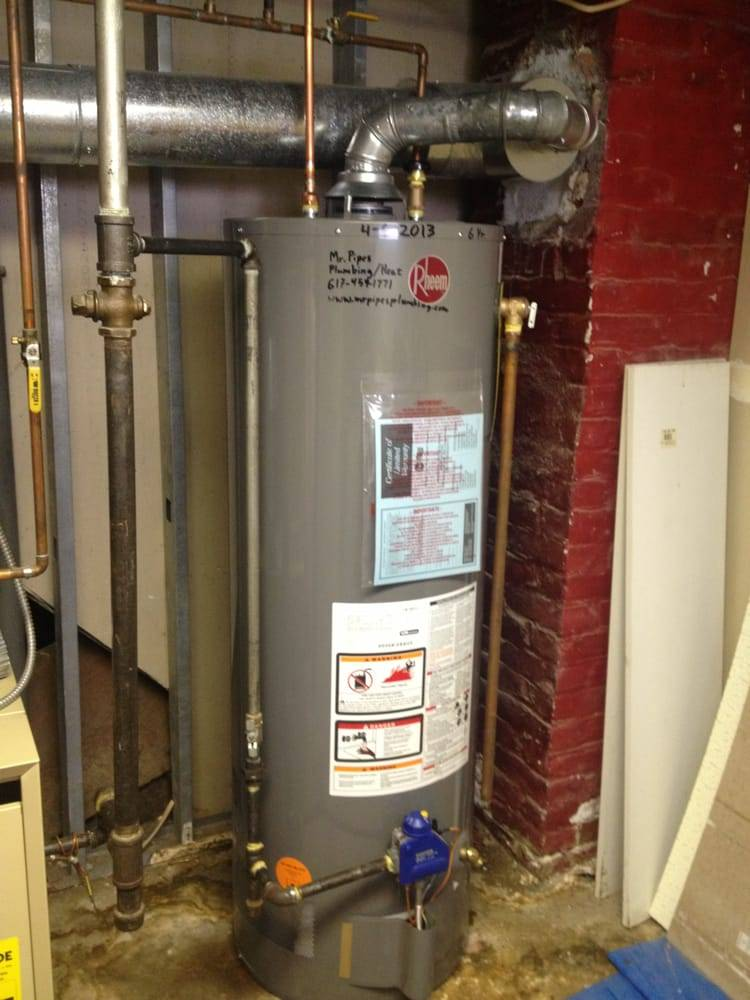 Rheem Natural Gas Hot Water Heater Installed