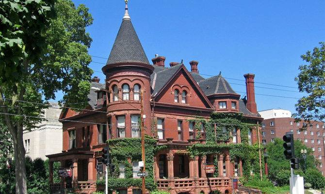 Richardsonian Romanesque Victorian House Dubuque Iowa