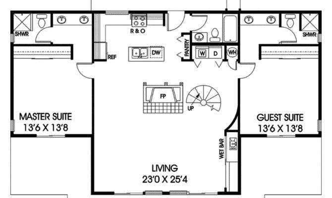 Ridgeview Park Vacation Home Plan House Plans