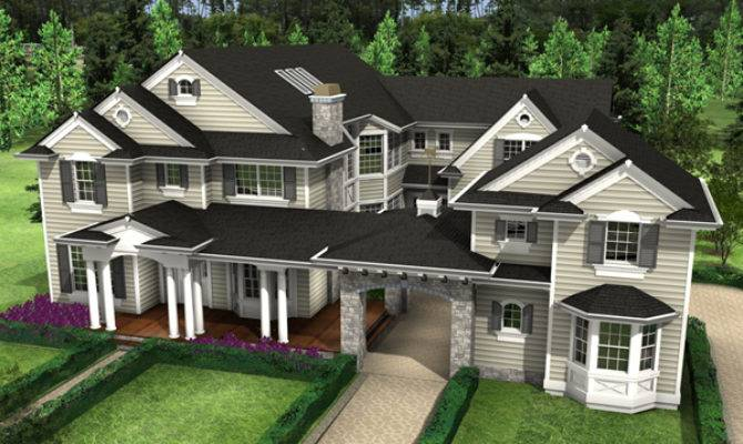 Rochester Mill Luxury Home Plan House Plans