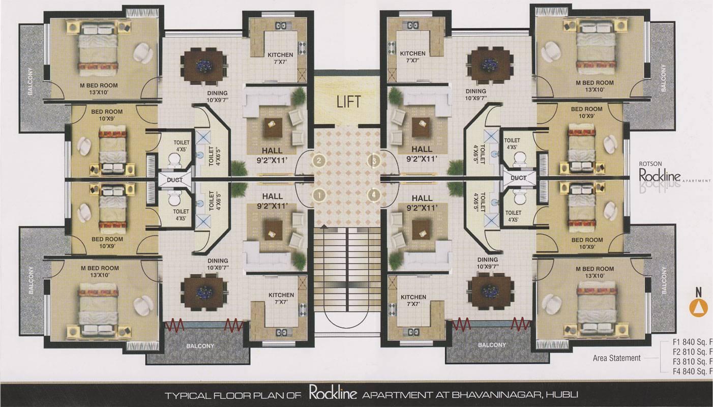 Rockline Apartment Bhabani Nagar Hubli Dharwad Rotson Group