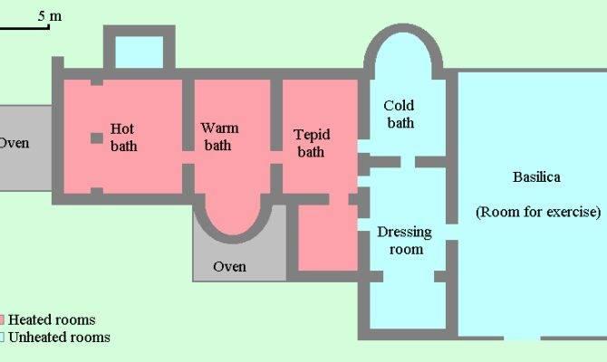 Roman Bathhouse Layout Places Want Pinterest